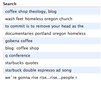Today's search terms from Google
